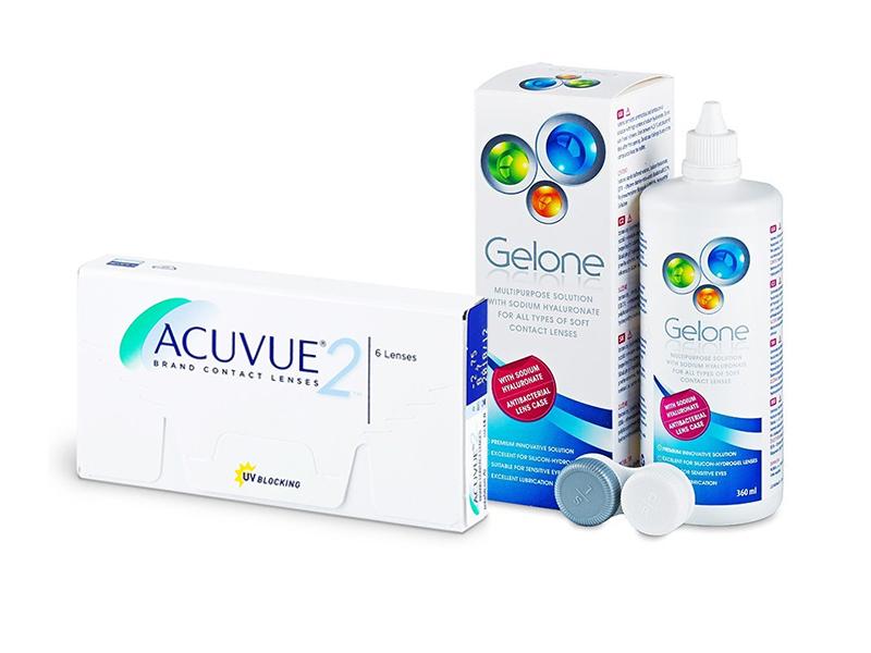 Acuvue 2 (6 kom leća) + Gelone 360 ml