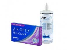 Air Optix plus HydraGlyde Multifocal (3 kom leća) + Laim-Care 400 ml