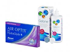 Air Optix plus HydraGlyde Multifocal (6 kom leća) + Gelone 360 ml