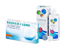 Bausch + Lomb ULTRA for Astigmatism (6 kom leća) + Gelone 360 ml