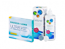 Bausch + Lomb ULTRA for Presbyopia (3 kom leća) + Gelone 360 ml