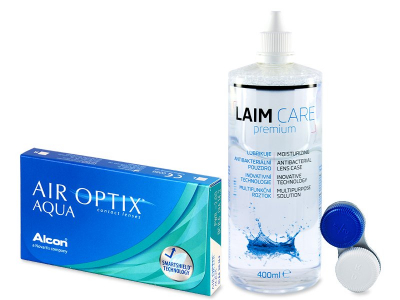 Air Optix Aqua (6 kom leća) + Laim-Care 400 ml