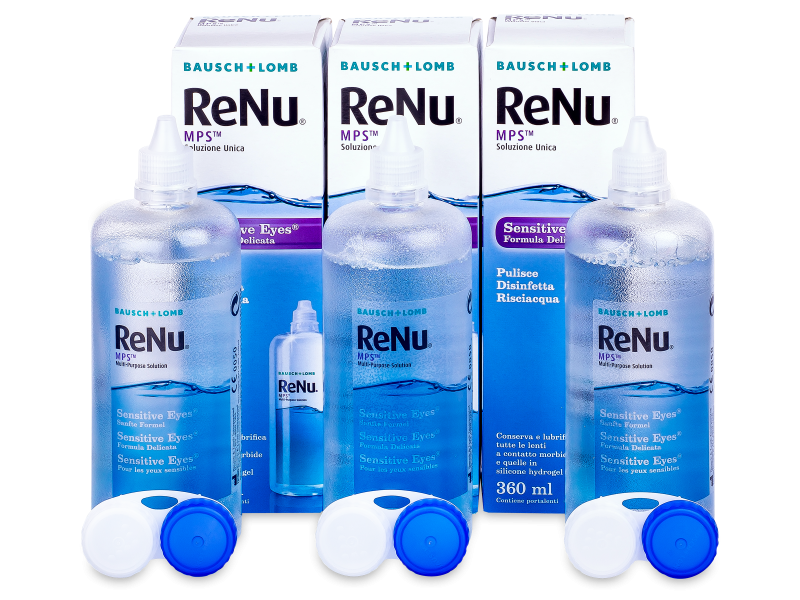 Otopina ReNu MPS Sensitive Eyes 3x360 - Ekonomično troduplo pakiranje otopine