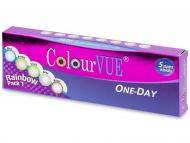 Kontaktne leće Maxvue Vision - ColourVue One Day TruBlends Rainbow - bez dioptrije (10 leća)