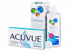 Acuvue Oasys with Transitions (6 kom leća) + Gelone 360 ml