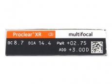 Proclear Multifocal XR (6 kom leća) - Pregled parametara leća