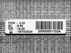 TopVue Plus (6 kom leća) - Pregled parametara leća