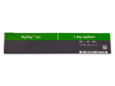 MyDay daily disposable (90kom leća) - Pregled parametara leća