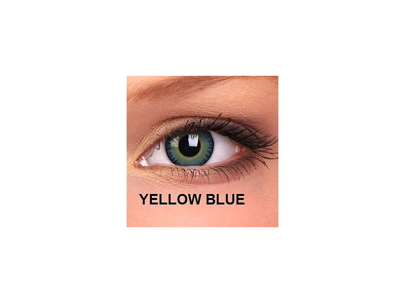 ColourVUE - Fusion - s dioptrijom (2 kom leća) - Yellow Blue