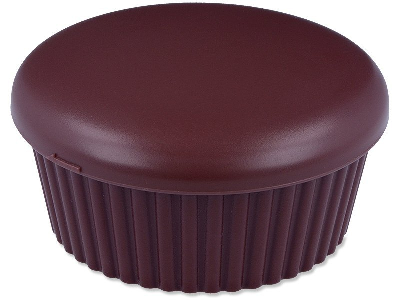 Kutija s ogledalom Muffin - smeđa  - Kutija s ogledalom Muffin - smeđa