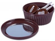 Kutije za leće s ogledalom - Kutija s ogledalom Muffin - smeđa