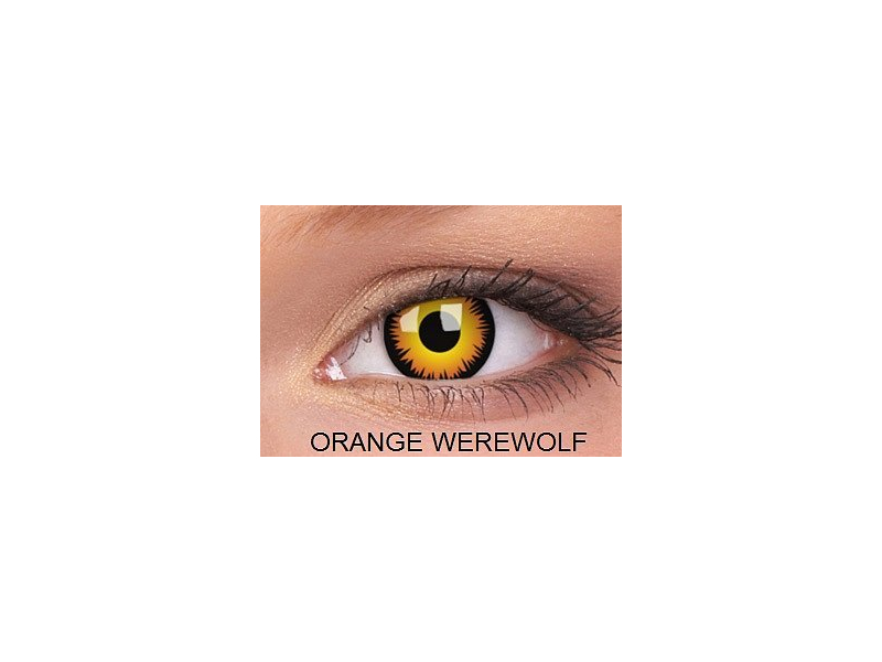 Crazy ColourVUE (2 kom leća) - Orange Werewolf