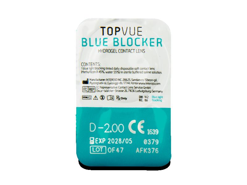TopVue Blue Blocker (30 kom leća) - Pregled blister pakiranja
