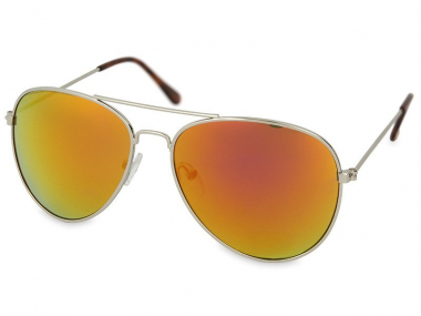 Pilot / Aviator sunčane naočale - Sunčane naočale Silver Aviator - Pink/Orange