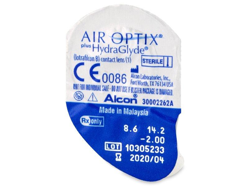 Air Optix plus HydraGlyde (6 kom leća) - Pregled blister pakiranja