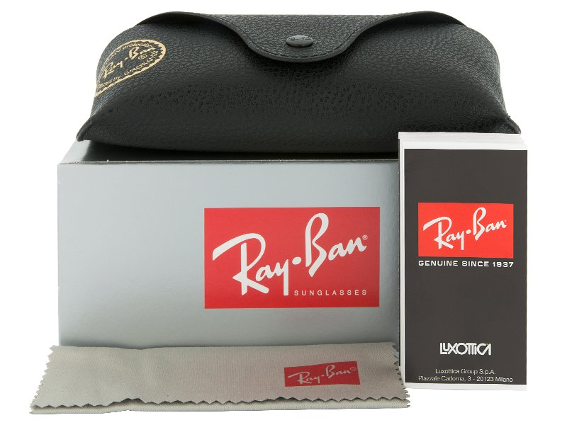 Ray-Ban New Wayfarer RB2132 - 789/3F  - Preview pack (illustration photo)
