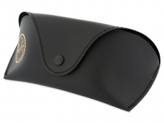 Ray-Ban  Top Bar RB3183 - 004/71  - Original leather case (illustration photo)
