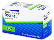 Kontaktne leće Bausch and Lomb - 3-mjesečne leće Optima FW (4komleća)