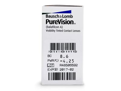 PureVision (6komleća) - Pregled parametara leća