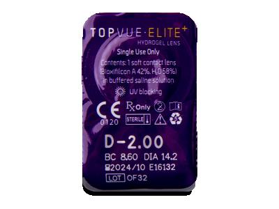 TopVue Elite+ (30 kom leća) - Pregled blister pakiranja