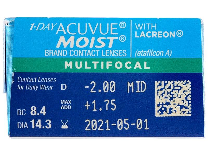 Pregled parametara leća - 1 Day Acuvue Moist Multifocal (30 kom leća)