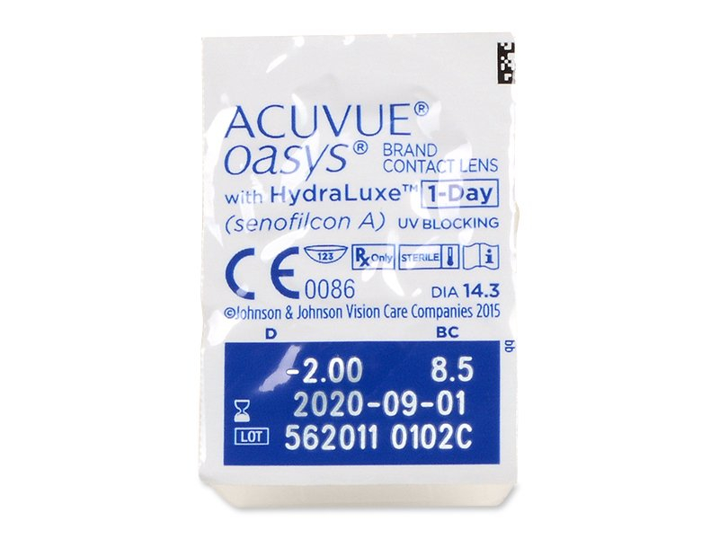 Pregled blister pakiranja  - Acuvue Oasys 1-Day (30 kom leća)