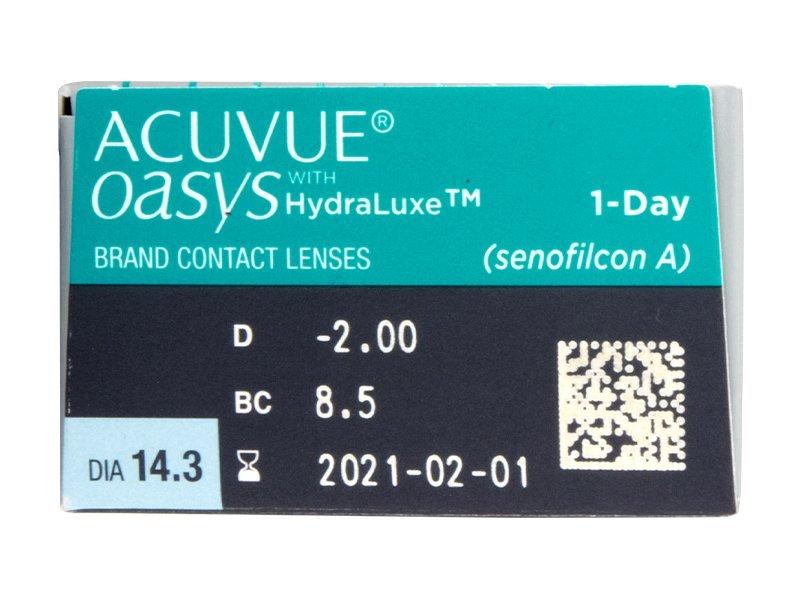 Pregled parametara leća - Acuvue Oasys 1-Day (30 kom leća)