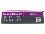 Avaira Vitality (3 kom leća) - Pregled parametara leća
