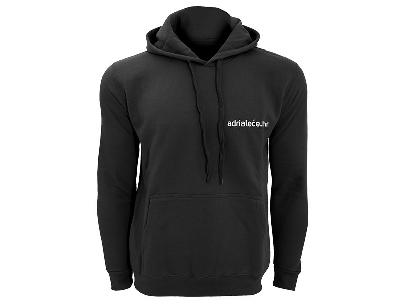 Majica s kapuljačom Adrialece - crna