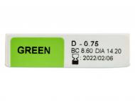 TopVue Daily Color - dioptrijske (10 kom leća) - Pregled parametara leća