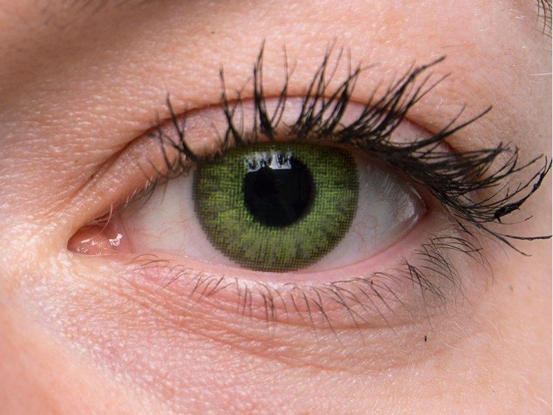 TopVue Daily Color - dioptrijske (10 kom leća) - Fresh green on grey eye