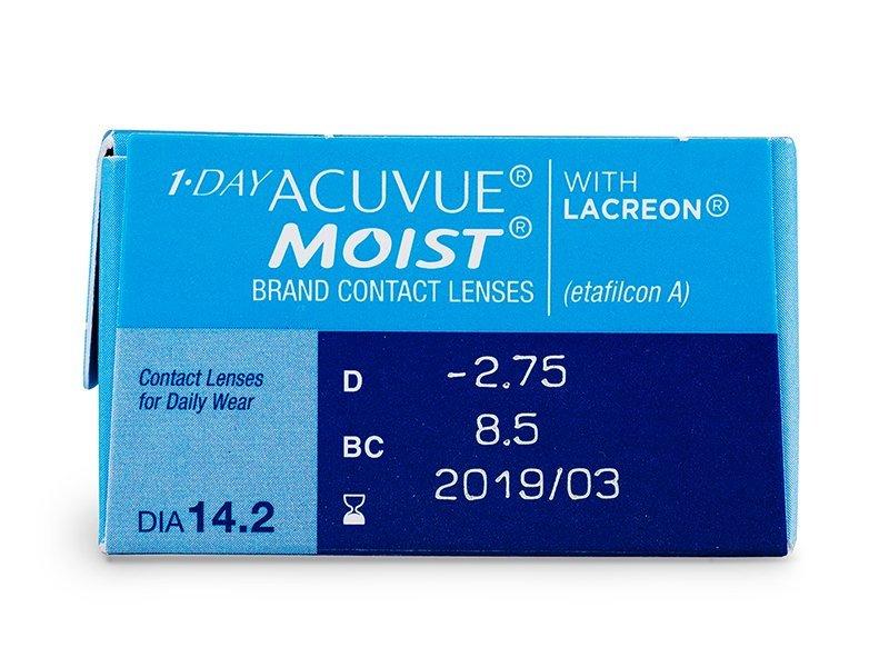 1 Day Acuvue Moist (30komleća) - Pregled parametara leća