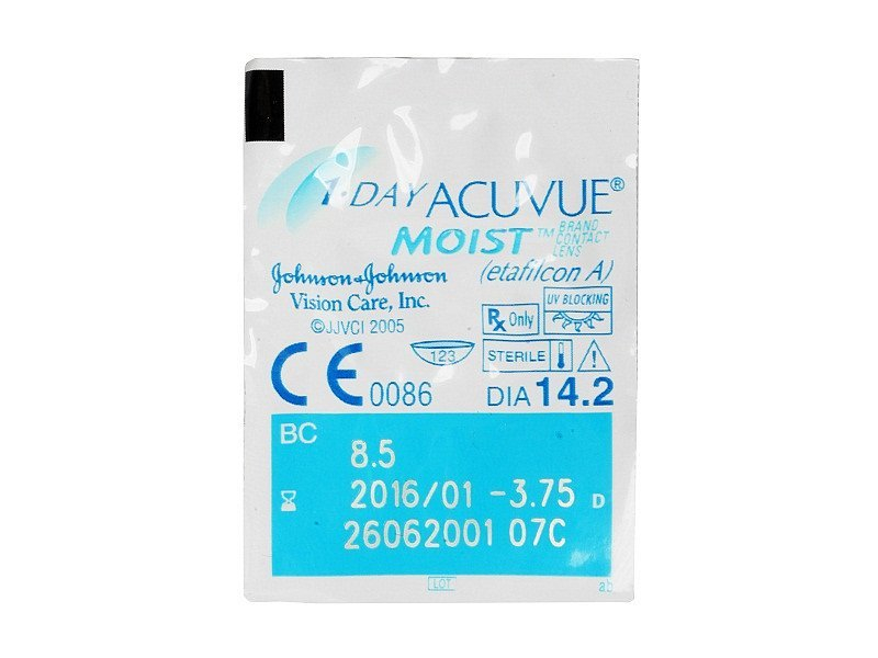 1 Day Acuvue Moist (30komleća) - Pregled blister pakiranja