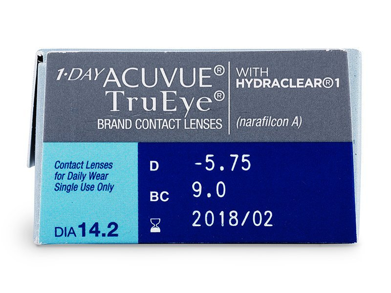 1 Day Acuvue TruEye (30komleća) - Pregled parametara leća