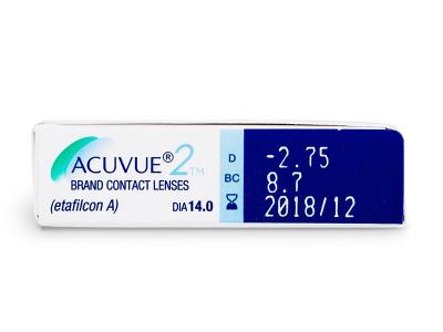 Acuvue 2 (6komleća) - Pregled parametara leća