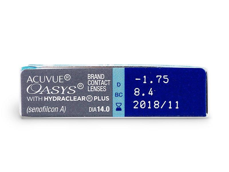 Pregled parametara leća - Acuvue Oasys (6komleća)