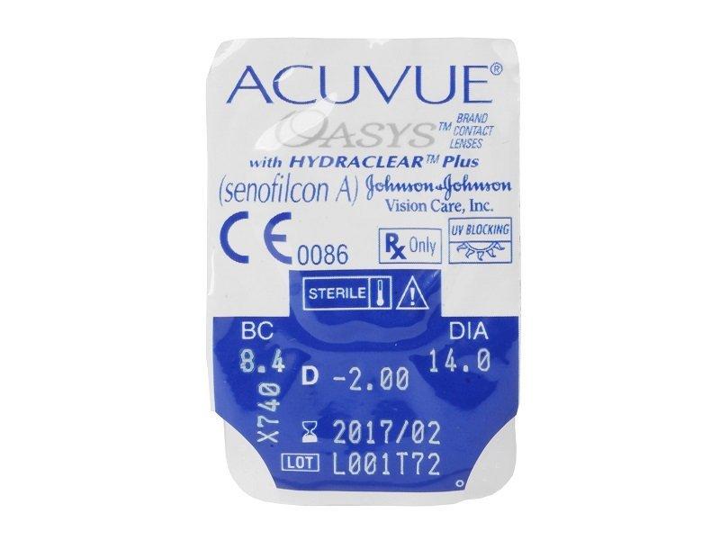 Pregled blister pakiranja  - Acuvue Oasys (6komleća)