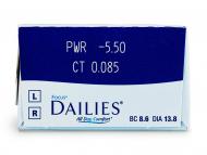 Focus Dailies All Day Comfort (30komleća) - Pregled parametara leća