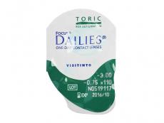 Focus Dailies Toric (30komleća) - Pregled blister pakiranja