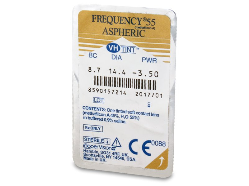 Frequency 55 Aspheric (6komleća) - Pregled blister pakiranja