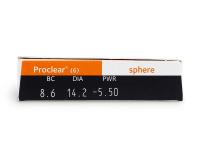 Proclear Compatibles Sphere (6komleća) - Pregled parametara leća