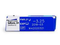 SofLens 59 (6komleća) - Pregled parametara leća