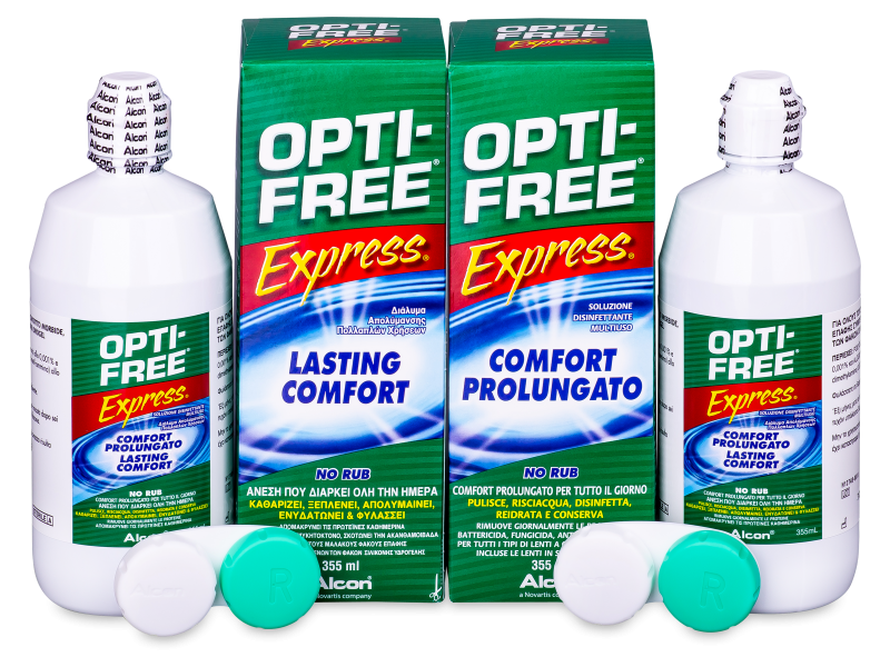 Otopina OPTI-FREE Express 2 x 355 ml  - Economy duo pack- solution