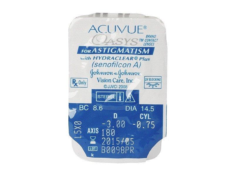 Pregled blister pakiranja  - Acuvue Oasys for Astigmatism (6komleća)