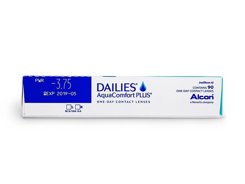 Pregled parametara leća - Dailies AquaComfort Plus (90komleća)