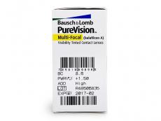 PureVision Multi-Focal (6komleća) - Pregled parametara leća