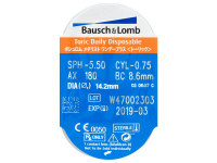 SofLens Daily Disposable Toric (30komleća) - Pregled blister pakiranja