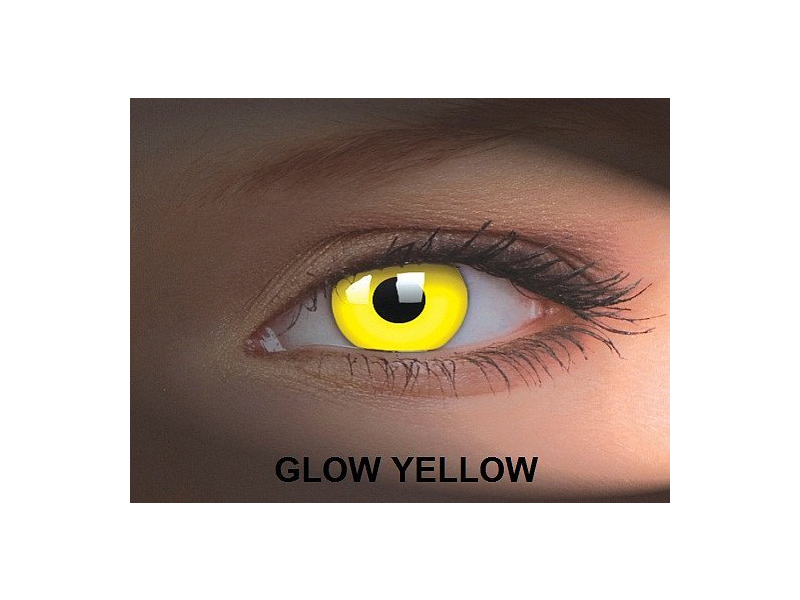 Crazy GLOW (2 kom leća) - Glow Yellow