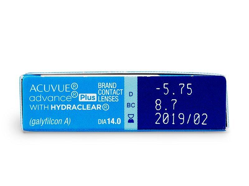 Acuvue Advance Plus (6komleća) - Pregled parametara leća