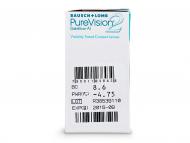 PureVision 2 (6komleća) - Pregled parametara leća